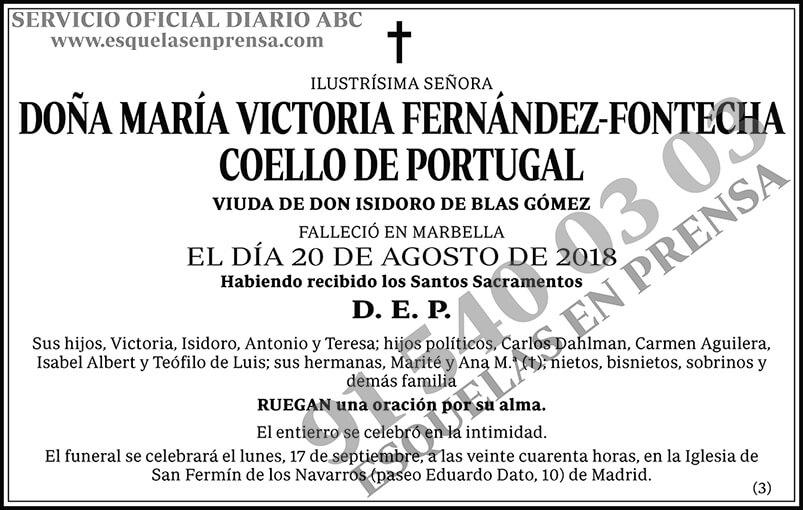 María Victoria Fernández-Fontecha Coello de Portugal